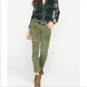MM Vintage Cassie army straight distressed jeans